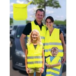 Warnwesten Familien-Pack